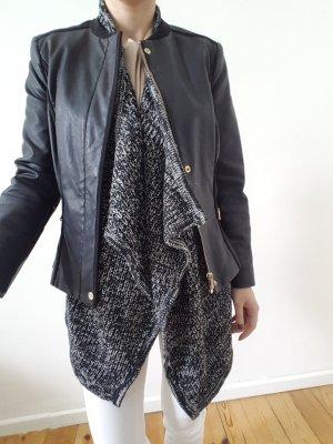 Asos Wasserfall Long Cardigan XS S M 34 36 oversized Leder Mantel Jacke Poncho