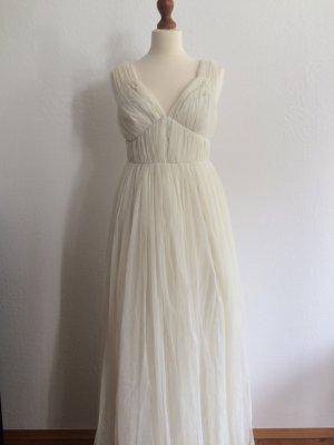 Asos wedding deep plunge super full pleated maxi dress