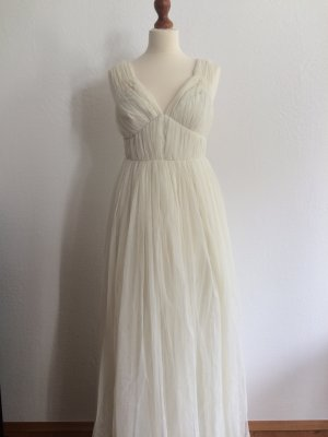 Asos wedding deep plunge super full pleated maxi dress