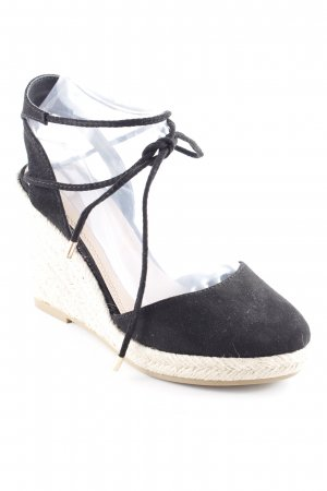 Asos Wedge Sandals black-oatmeal Boho look