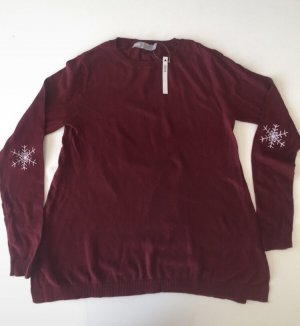 Asos Sweatshirt bordeaux-wit