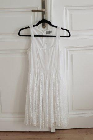 Asos weißes Kleid mit Spitzeneinsatz