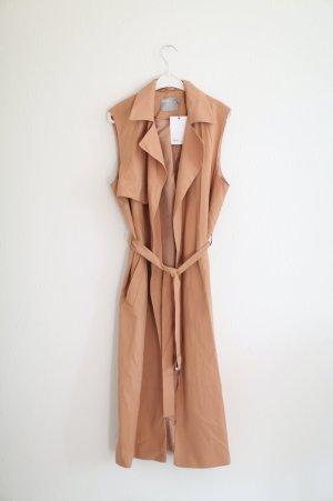 Asos Weste Trench Sleeveless Coat in Lachs Gr. 38 Longcoat Neu mit Etikett!
