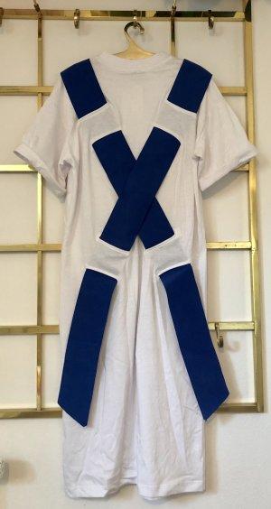 Asos White Maxi abito bianco-blu