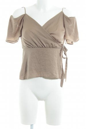 Asos Wikkelblouse camel casual uitstraling