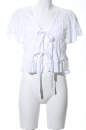 Asos Wraparound Blouse natural white casual look