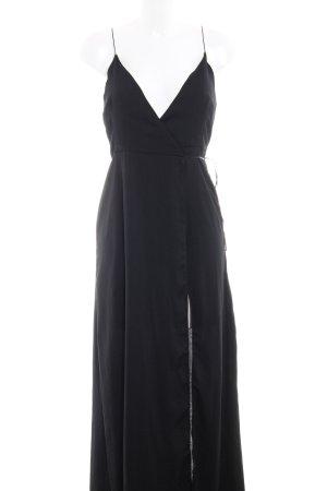 Asos Vestido cruzado negro elegante