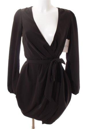 Asos Wickelkleid schwarz Elegant