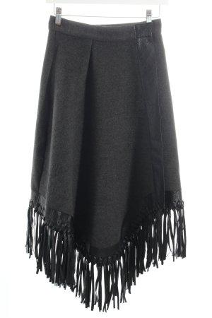 Asos Falda cruzada gris-negro Apariencia de mezcla de materiales