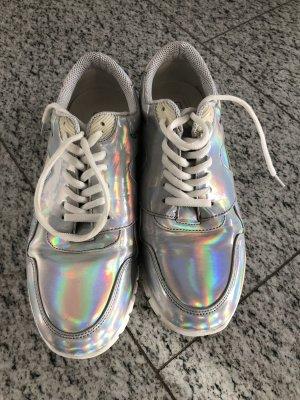 Asos wie neu Sneaker in silbermetallic