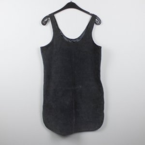 Asos Leather Dress grey-dark grey leather