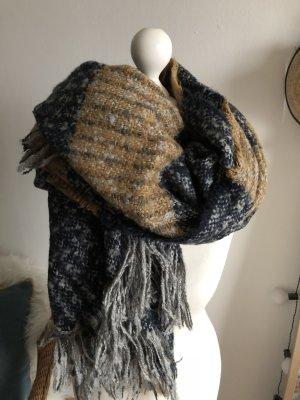 Asos Gebreide sjaal cognac-grijs