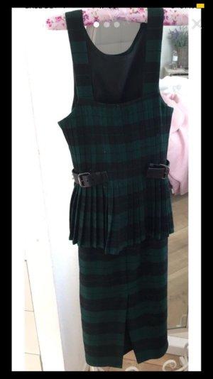 Asos Vestido de lana negro-verde oscuro