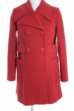 Asos Winter Coat red casual look