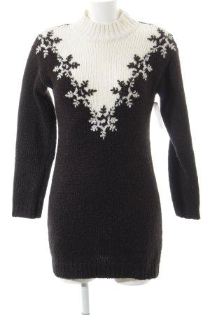 Asos Vestido de lana negro-blanco puro look casual