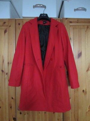 Asos Wollmantel minimalistisch rot Gr. 36 w.NEU