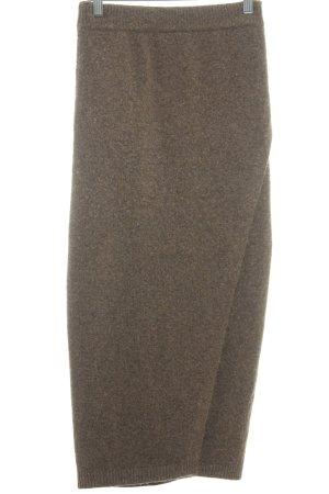 Asos Wollrock beige-hellbraun meliert minimalistischer Stil
