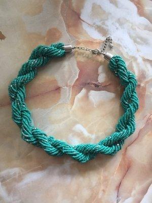 Asos wunderschöne geflochtene dicke Halskette Türkis