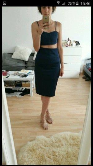 Asos zweiteiliges Kostüm dunkelblau