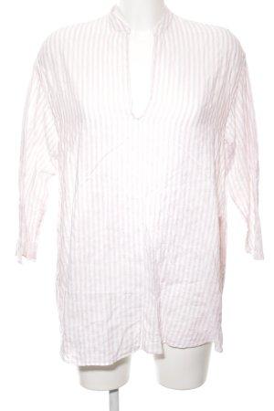Aspesi Blouse à manches longues blanc-rose motif rayé style décontracté