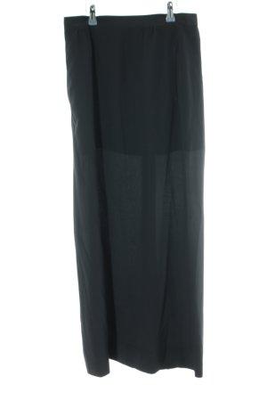 Aspesi Jupe en soie noir style décontracté