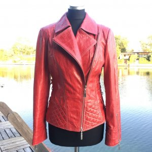 ASSAN Lederjacke in Rot