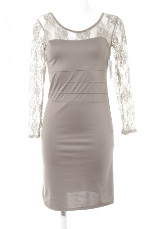 Assuili Longsleeve Dress grey brown party style