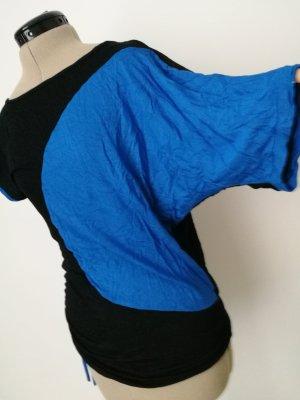 assymetrische Tunika blau schwarz