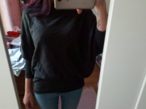 Tezenis Long Sweater anthracite viscose