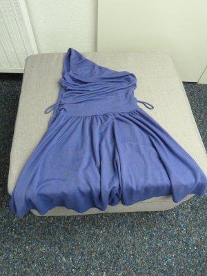 Assymetrisches Kleid von Miss Sixty lila mit Silberglanz