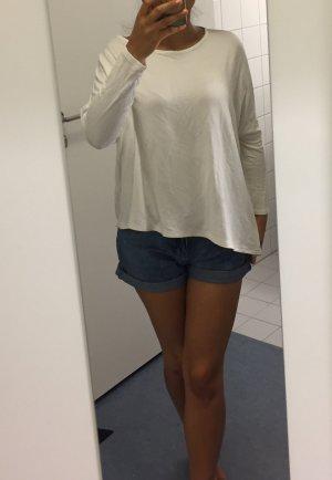 Zara Maglione girocollo bianco