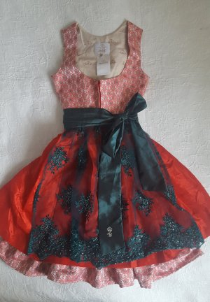 Astrid Söll Dirndl brick red-forest green