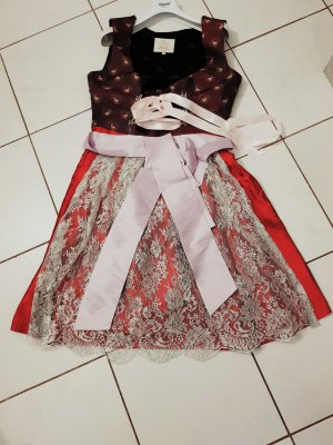 Astrid Söll Dirndl silver-colored-red silk