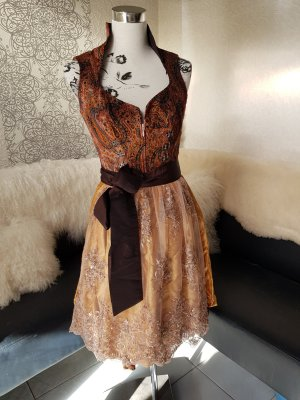 Astrid Söll Dirndl bronze-colored-sand brown