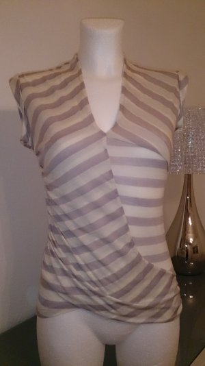 Asymetrisch geschnittenes Shirt mit Leinenanteil