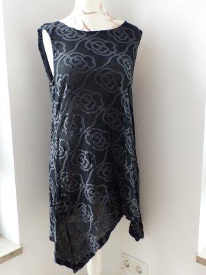Vestido de lana negro-gris oscuro