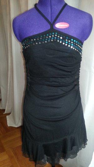 Asymetrisches schwarzes Abendkleid