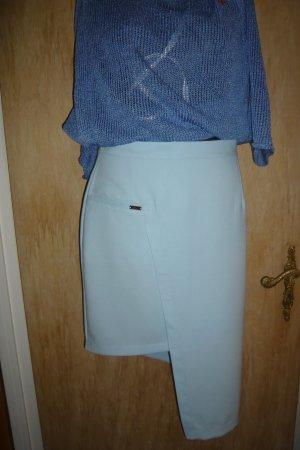 Asymmetry Skirt light blue viscose