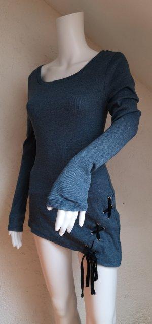 Asymmetrisch Adventure Pullover Tunika mit Flechtelement
