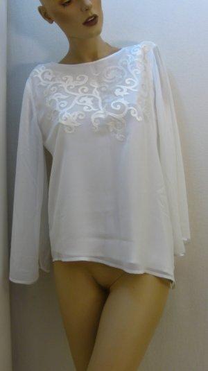 asymmetrische Bluse, Ärmel transparent, ausgestellt