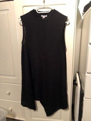 Asymmetrische Bluse in schwarz
