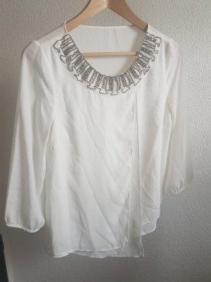 asymmetrische Bluse mit Pailletten