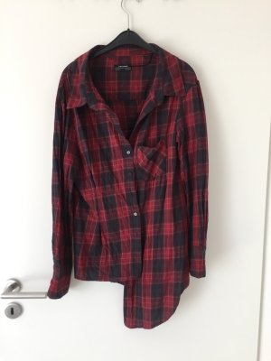 Asymmetrische Hemd Bluse
