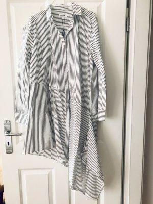 Weekday Abito blusa camicia bianco-grigio