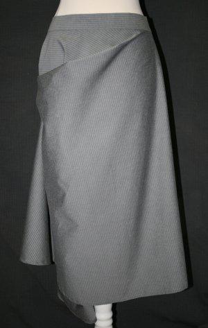 Jupe asymétrique gris foncé-argenté laine vierge