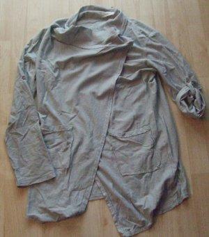 Veste chemise gris ardoise coton