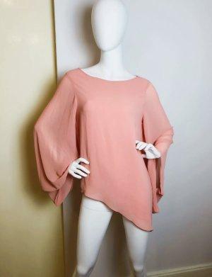 Asymmetrische TOPSHOP Bluse Rosa mit Kaftanärmeln 38/40