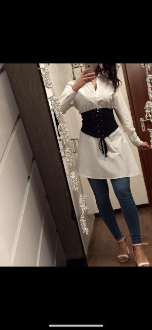 Asymmetrische weiße Bluse