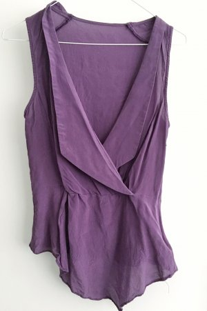 Wraparound Blouse blue violet