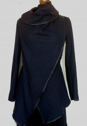 Wraparound Jacket dark blue cotton